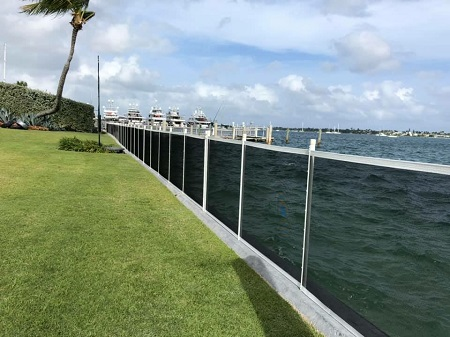 seawall boat dock mesh safety fence