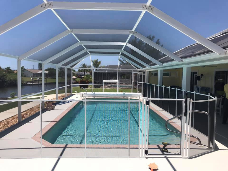 "White 48"" Life Saver Premium Solid Core with Gate in Cape Coral"